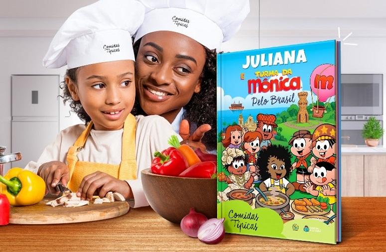 Turma da Mônica visita a Bahia e experimenta o Acarajé em novo livro personalizável